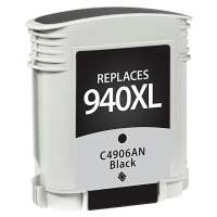 Remanufactured HP 940XL, C4906AN ink cartridge, high yield, black