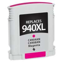 Remanufactured HP 940XL, C4908AN ink cartridge, high yield, magenta