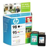 HP 98, 95, CB327FN OEM ink cartridges, 2 pack