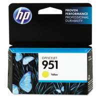 HP 951, CN052AN OEM ink cartridge, yellow