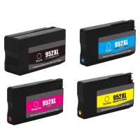 Remanufactured HP 952XL ink cartridges, high yield, 4 pack