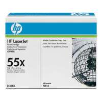 HP 55X, CE255X original toner cartridge, 12500 pages, black