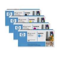 Genuine OEM Original HP Q6000A / Q6001A / Q6002A / Q6003A toner cartridges - 4-pack