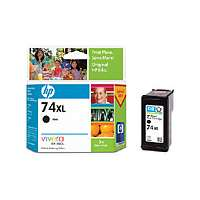 HP 74XL, CB336WN OEM ink cartridge, high yield, black