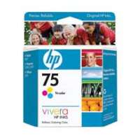 HP 75, CB337WN OEM ink cartridge, tri-color