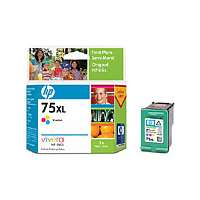 HP 75XL, CB338WN OEM ink cartridge, high yield, tri-color
