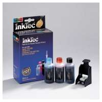 Inktec Refill Kit for HP C6658A (25ml per Bk/LC/LM each, Refill Clip)