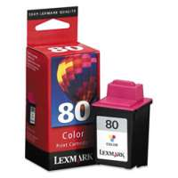 Lexmark 80, 12A1980 OEM ink cartridge, color