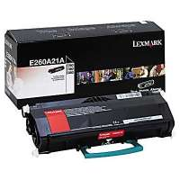 Lexmark E260A21A original toner cartridge, 3500 pages, black