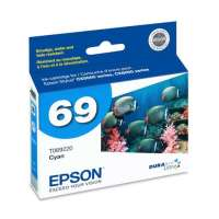 Epson 69, T069220 OEM ink cartridge, cyan