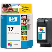 HP 17, C6625A OEM ink cartridge, tri-color