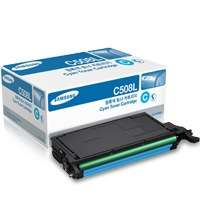 Samsung CLT-C508L original toner cartridge, 5000 pages, cyan
