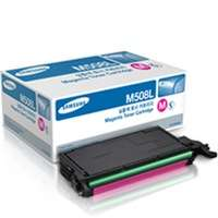 Samsung CLT-M508L original toner cartridge, 5000 pages, magenta