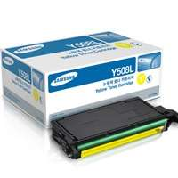 Samsung CLT-Y508L original toner cartridge, 5000 pages, yellow