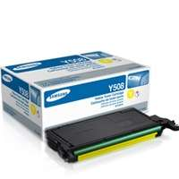 Samsung CLT-Y508S original toner cartridge, 2500 pages, yellow