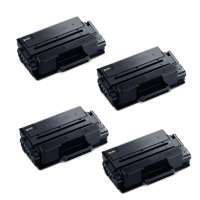 Compatible Samsung MLT-D203E toner cartridges - extra capacity black - 4-pack