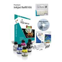 Professional Inkjet Refill Kit - 4 Color Kit for Epson - Black, Color, Epson Chip Resetter